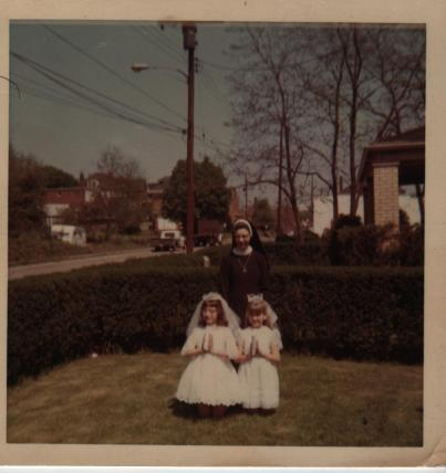 1969-05 Sr Audrey, Mary & Shelly Scobel 1st Communion