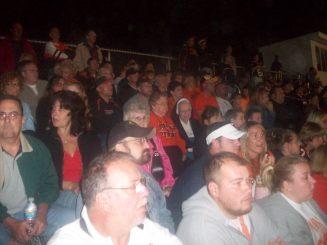 2009-09-17 Sr. Audrey watching Springdale Football vs North Catholic