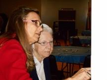 2014-10-25 Sr. Audrey with Debbie