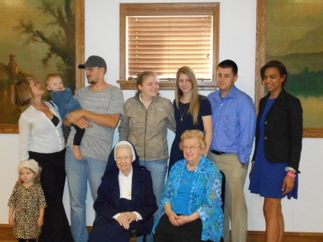 2014-10-26 Sr. Audrey with great nieces and nephews